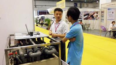 DF公司华东地区代表陈林虎到访水清木华指导电镀废水处理工作