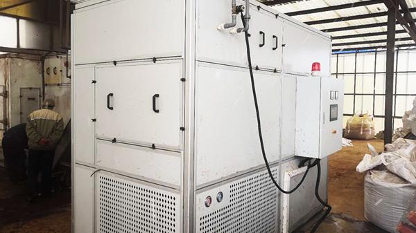 高丽钢线污泥干化处理工程(箱式机)-水清木华工程案例